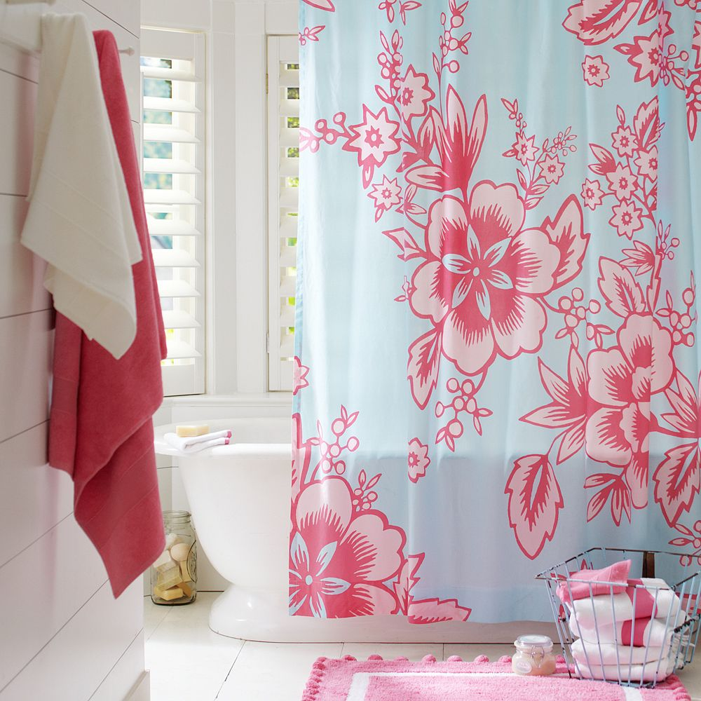 Home Industrial: Using shower curtains as window treatments