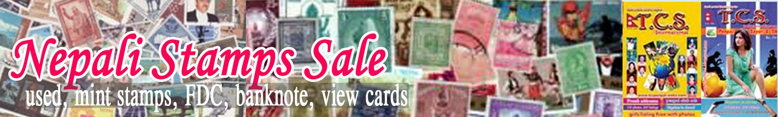 Nepali used, mint stamps, FDC's, Philatelic Items, Nepali banknote, view cards.