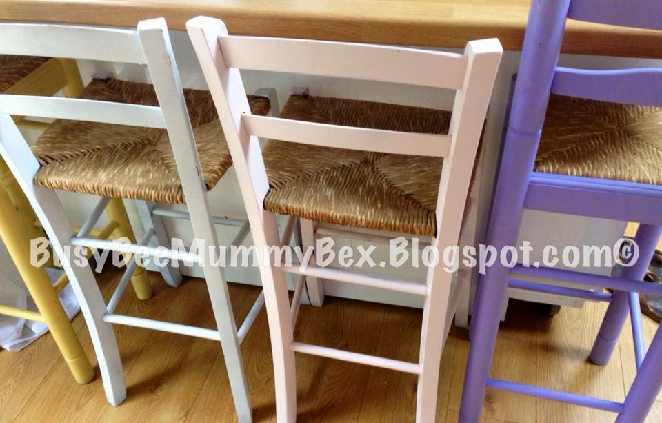 Pastel Wooden Breakfast Chairs