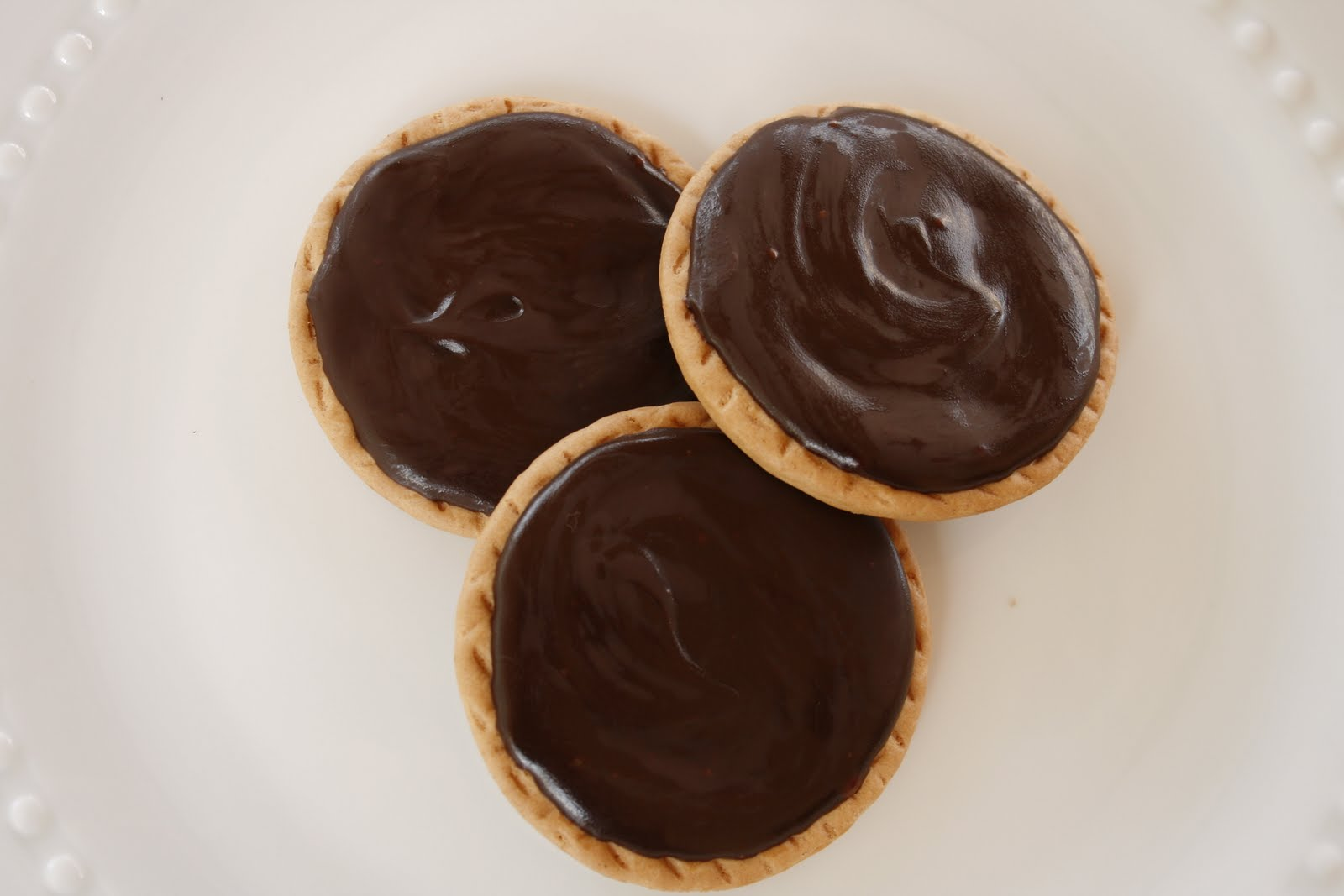 Laura's Sweet Spot: Royal Chocolate Ganache Glazed Biscuits