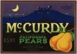 McCurdy Pears Label