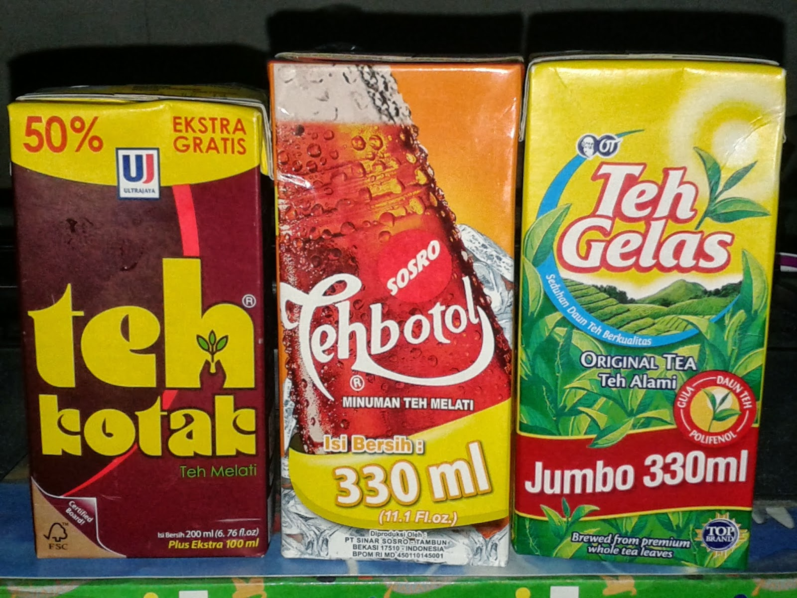 Teh Kotak 300ml Teh Botol Sosro Kotak 330ml Dan Teh