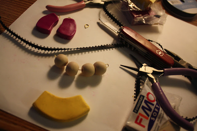 Polymer, Clay, Necklace, DIY