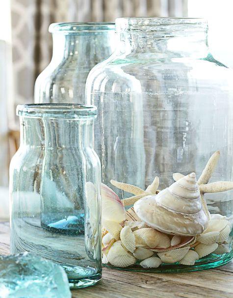 Blue Glass Jars