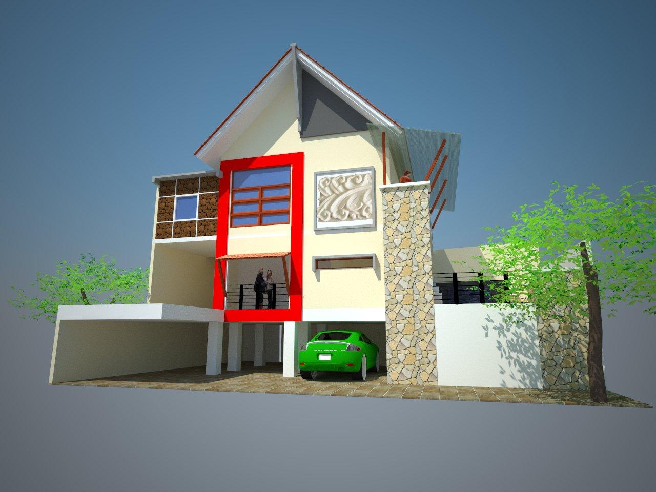 1280 x 960 · 145 kB · jpeg, Desain rumah tinggal ini terdiri dari 3