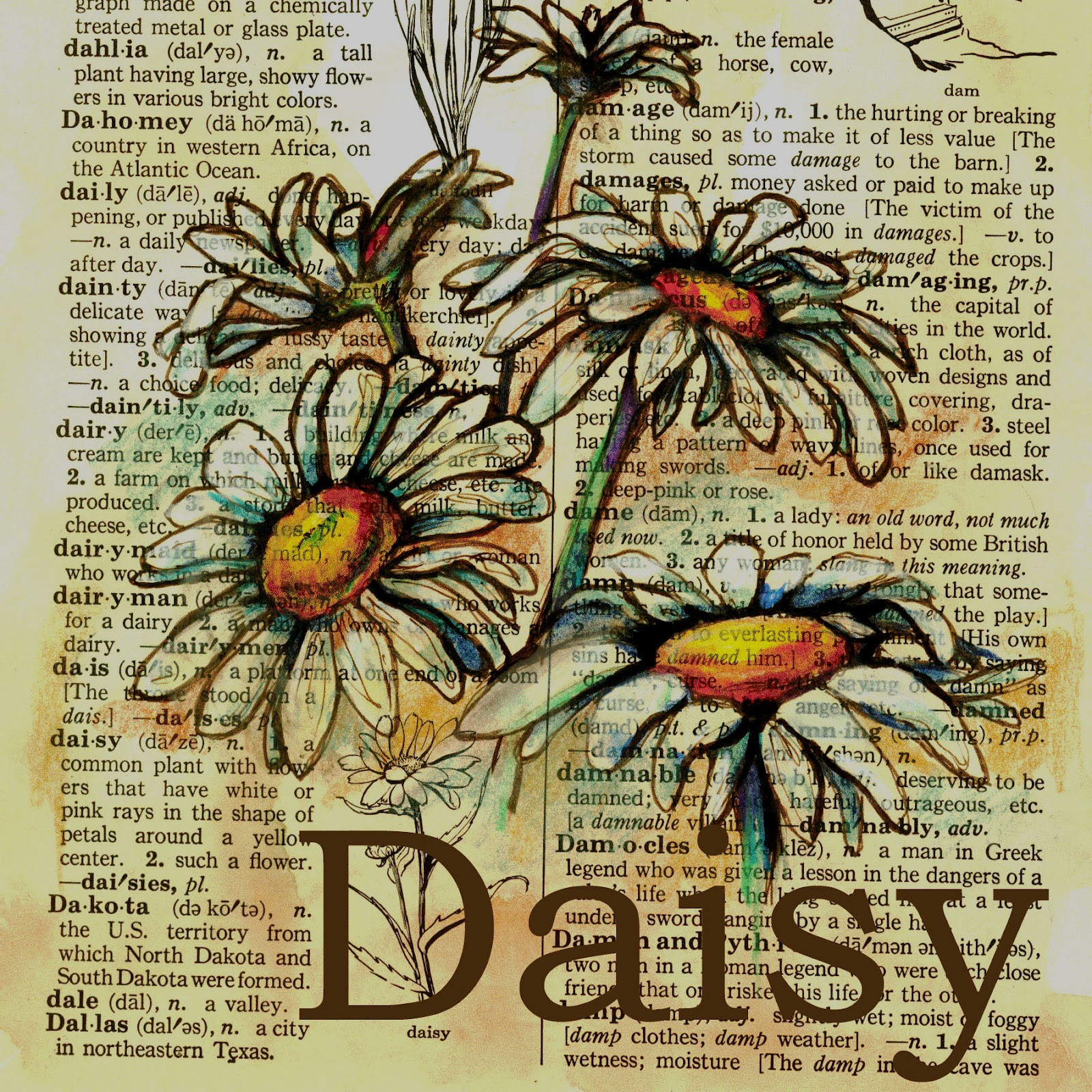 Flying Shoes Art Studio Daisy Painting Sheets