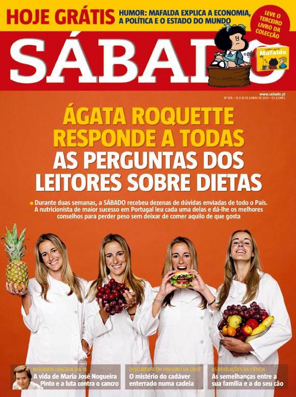 Revista Sábado Ágata Roquette