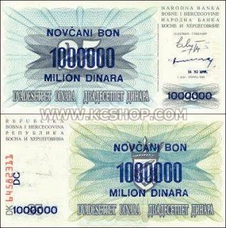 1,000,000 Dinara