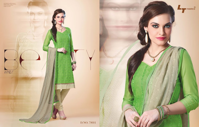 LT Vol – 79 – Chanderi Silk Churidar Dress Material