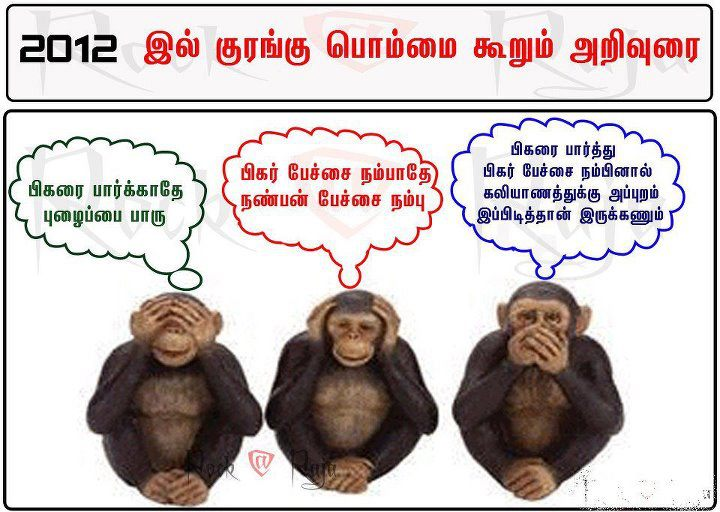 2012 Funny monkey's tamil jokes about figures -