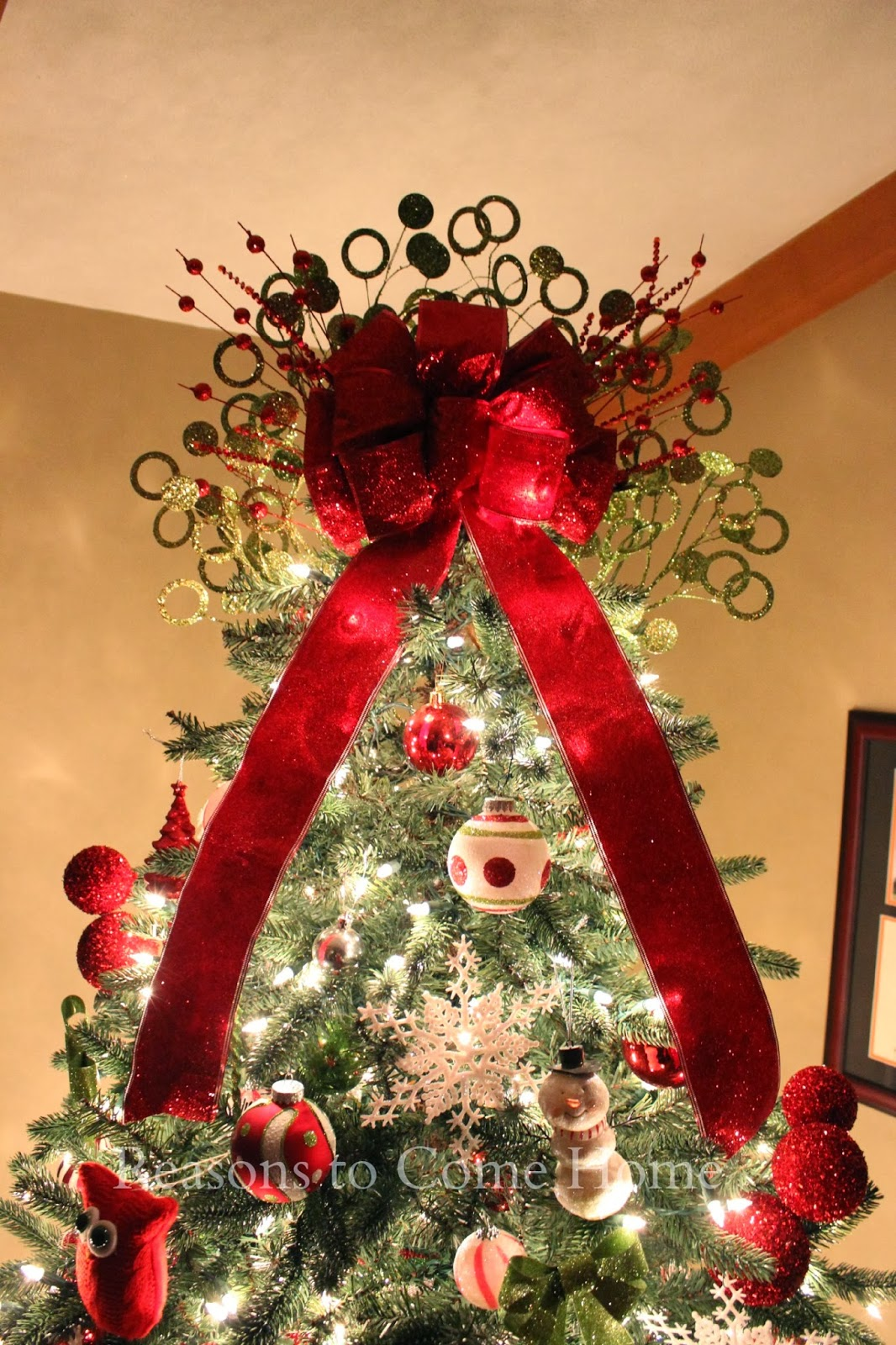 Christmas Tree Bow Toppers