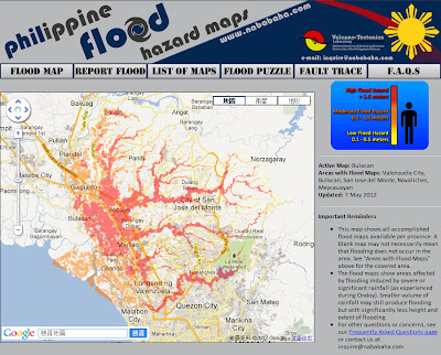 Philippines Flood Map Philippine Flood Hazard Maps