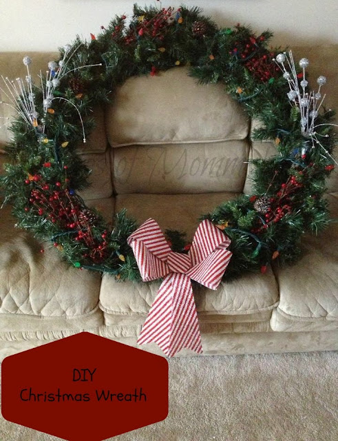 do it yourself lighted christmas wreath