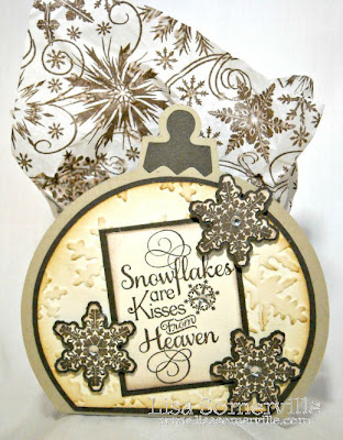 Stamps - Our Daily Bread Designs Snowflake Background, Mini Snowflake Set, Snowflake Sentiments.  Ornament Box Template from Creations by AR cut with the Silhouette Cameo