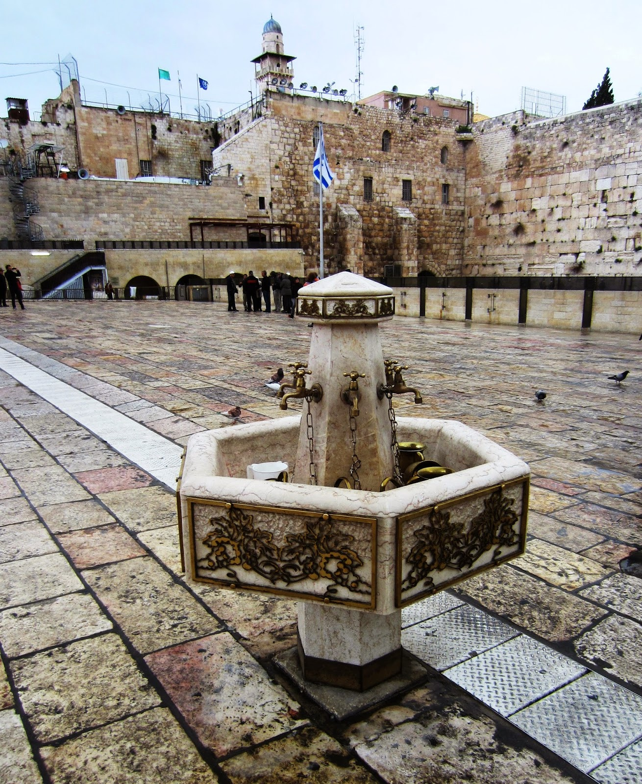 Washing station, Western Wall Plaza, Jerusalem / Souvenir Chronicles