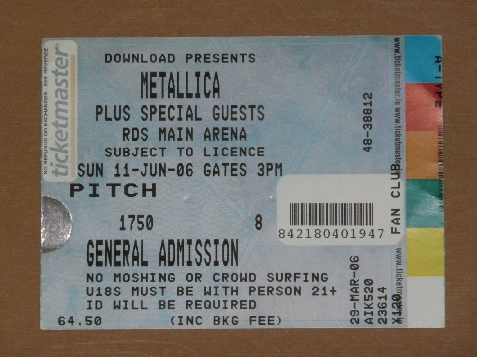 Metallica Tickets Collection Their Show Their Stage Their Rulz