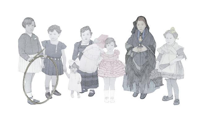 niñas , españolas, siglo XX. ante el fotografo