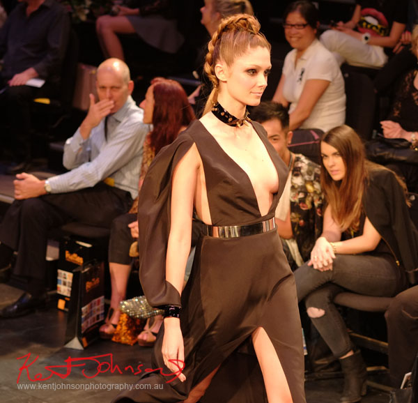 Will Brunton - Black Dress, Raffles College 2012 Graduate Fashion Show Carriageworks, Everleigh Sydney