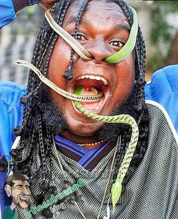 O engolidor de cobra... WTF?