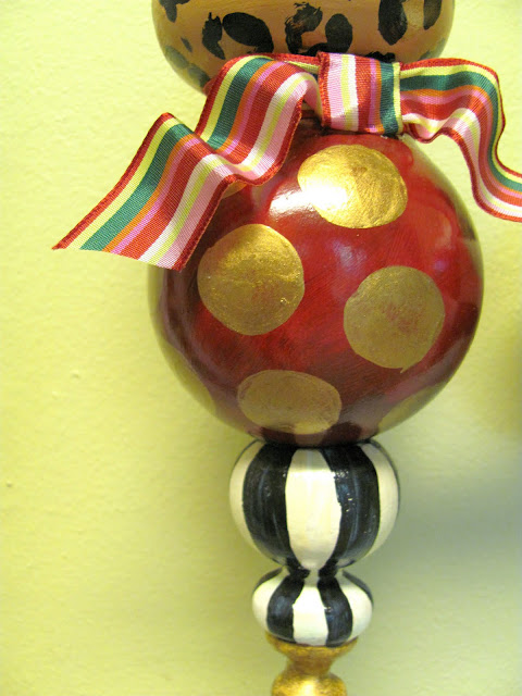 large whimsical painted ornament