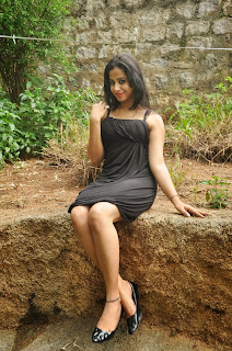 Telugu Actress Swathi Deekshith Latest Picture Gallery in Black Short Dress  0039