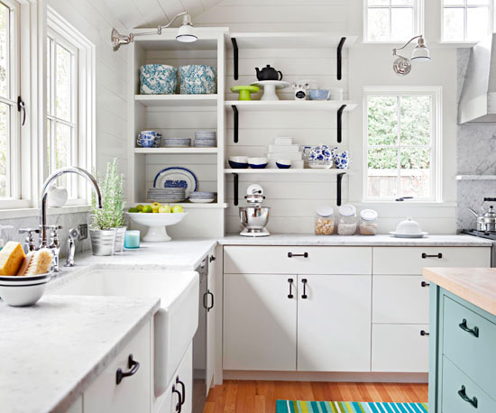 Artistic Home Interior Designs White Kitchen Decorating Ideas - Grey and white kitchen decorating ideas