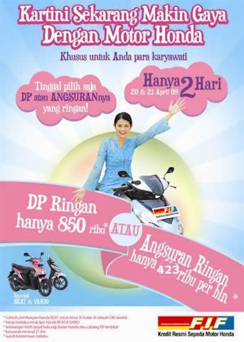 brosur iklan sepeda motor