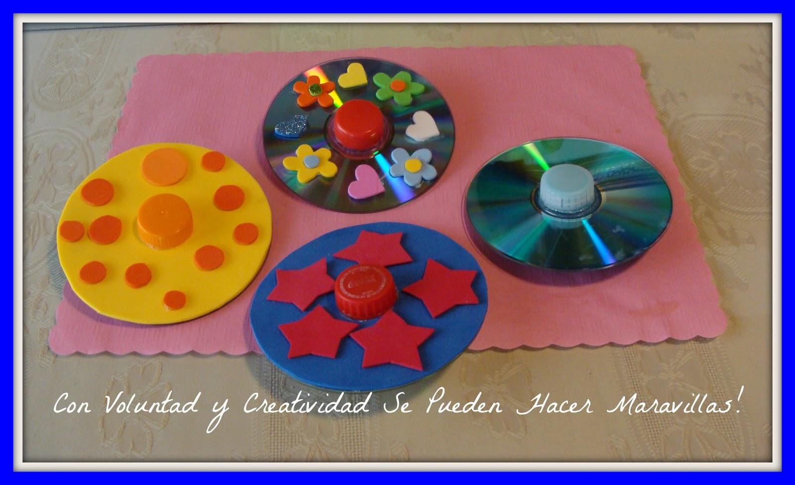 Con voluntad y creatividad se pueden hacer maravillas - Manualidades con cds para ninos ...