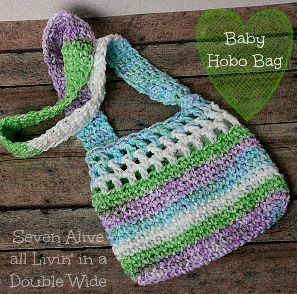 Toddler Crochet Purse Pattern : Baby Hobo Bag Crochet Pattern - Seven Alive