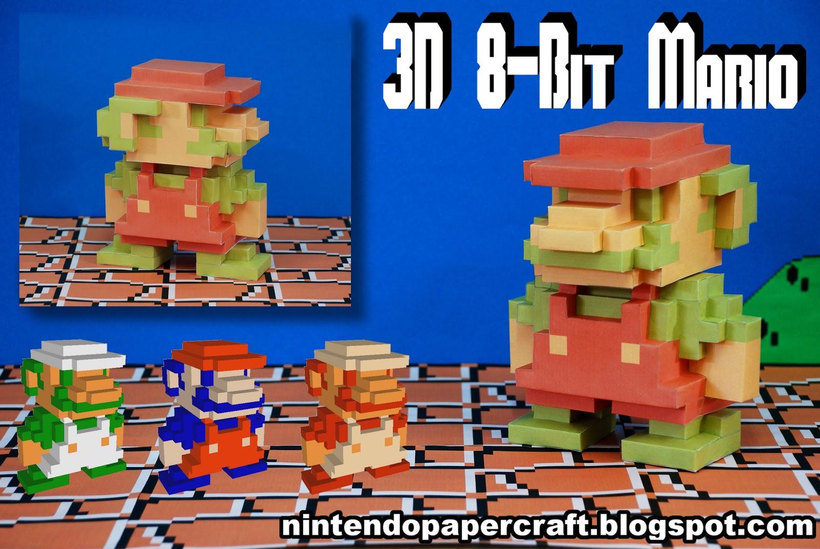 Ultimate Papercraft: 3D 8-Bit Mario Papercraft