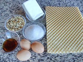 Napolitane cu crema caramel si nuca ingrediente reteta