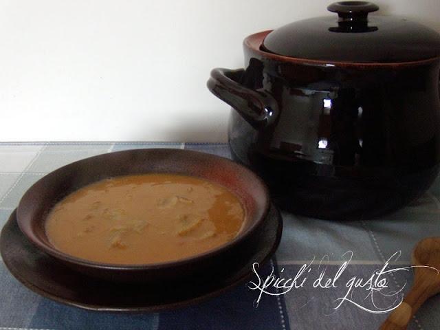 Zuppa di patate porri e zucca