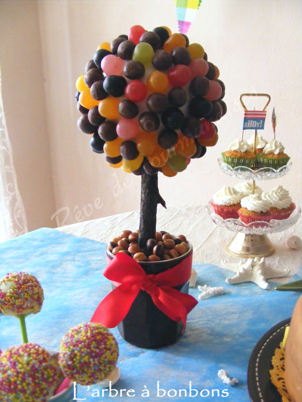 r ve de gourmandises 2 arbre bonbons tutoriel. Black Bedroom Furniture Sets. Home Design Ideas