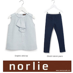 Princess Isabella Style Norlie Grafic Dots Top and Norlie Stretch Demin Jeans