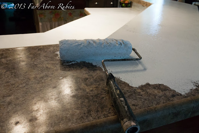 Far Above Rubies Spray painted Stone countertop