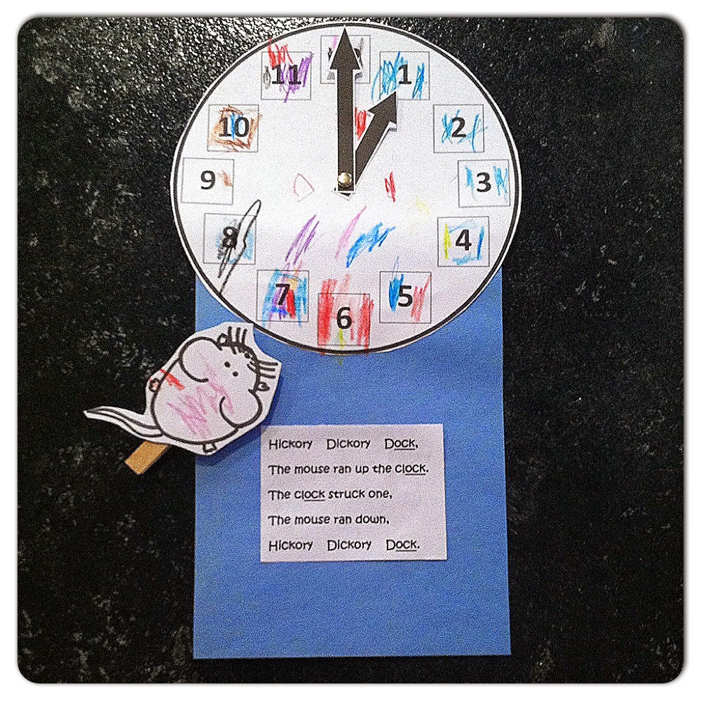 hickory dickory dock activities for preschool crafts for minds preschool nursery rhyme printable 425