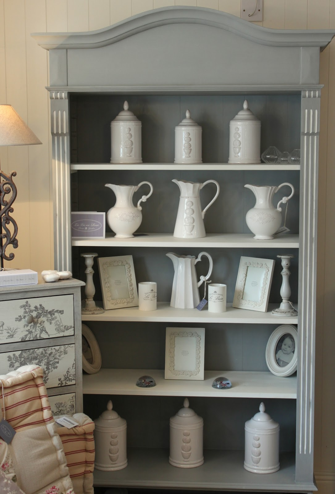 Marvelous photograph of Arch Top Bookcase painted in Annie Sloan Chalk Paint Main colour  with #7F6D4C color and 1085x1600 pixels