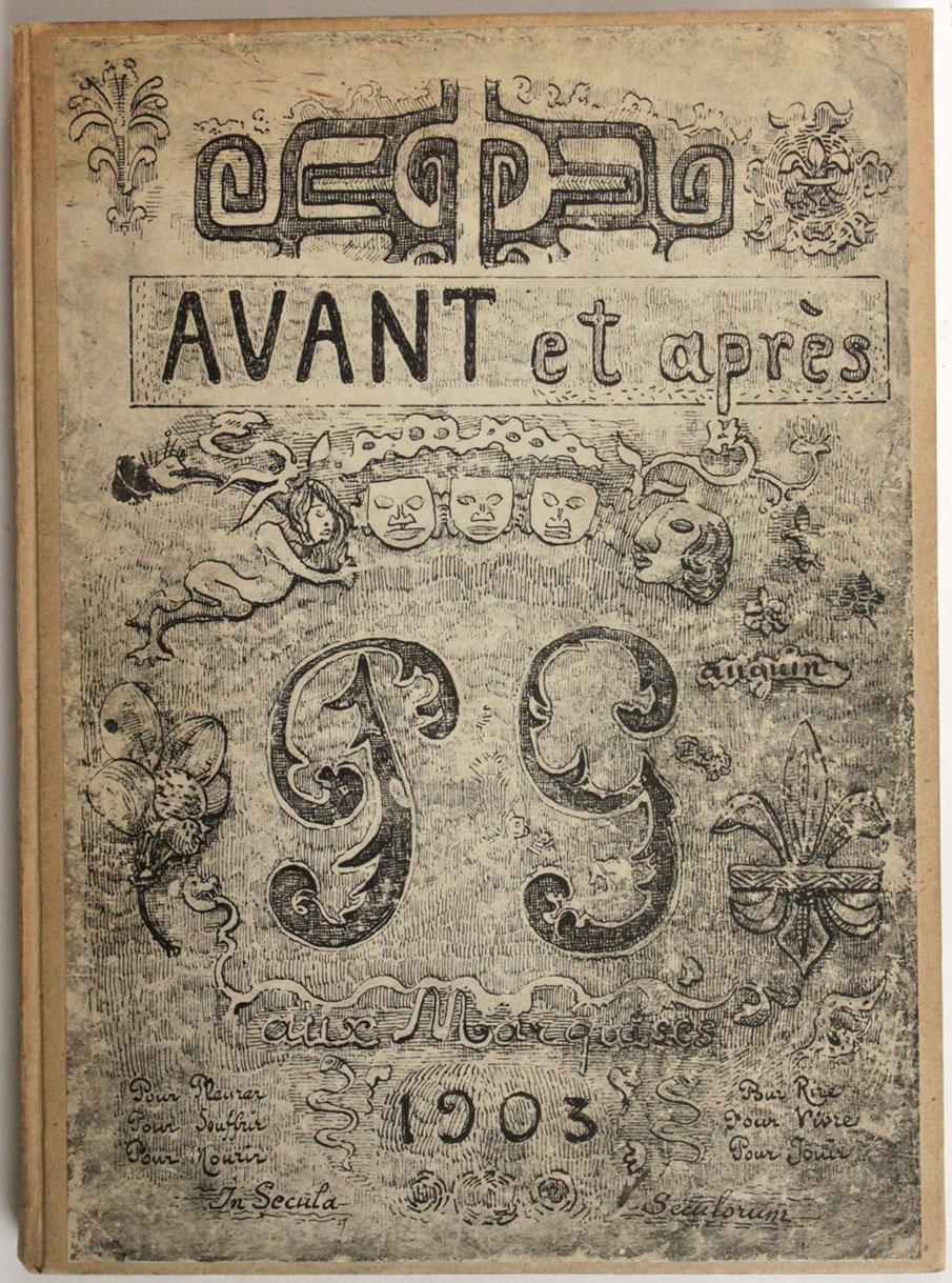 julien mannoni livres anciens et rares paul gauguin avant et apr s edition originale fac. Black Bedroom Furniture Sets. Home Design Ideas