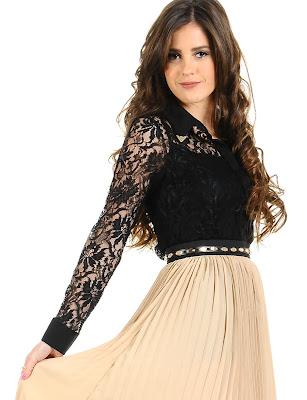 Lace Blouse with collar