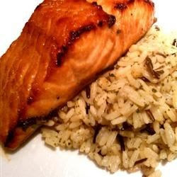 broiled salmon with the sweet-spicy flavors of brown sugar, soy sauce ...