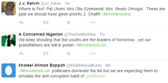 Nigeria ministerial list  10,ministerial list Nigeria 10