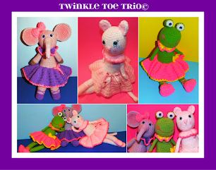 Twinkle Toe Trio Crochet Ballerina Doll Patterns© By Connie Hughes Designs©