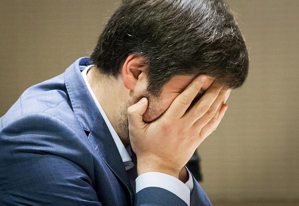 Cauchemar pour Peter Svidler qui menait 2-0 en finale de la coupe du monde d'échecs et qui se fait rattraper 2-2 - Photo © site officiel - Photo © site officiel