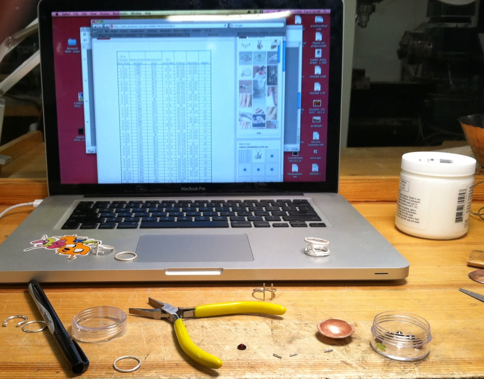 midterms papers jewelry metalsmithing rings