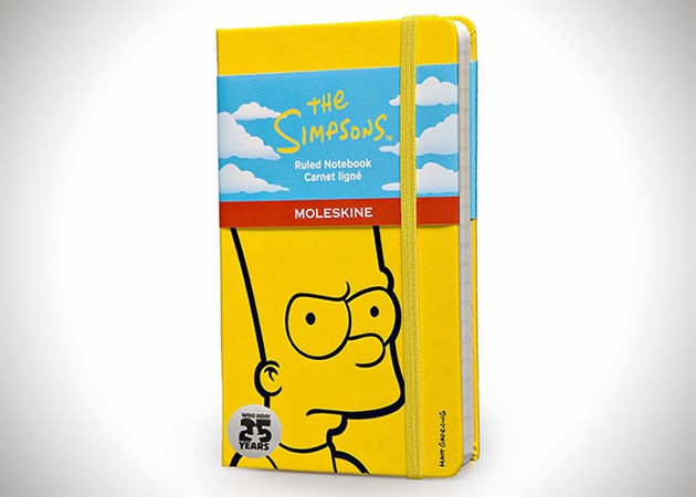 moleskine 2014, moleskine limited eidtion, moleskine the simpsons 2014, moleskine the simpsons limited edition, the simpons notebook