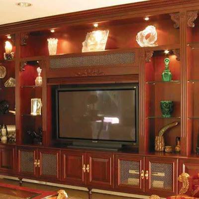 wood entertainment center