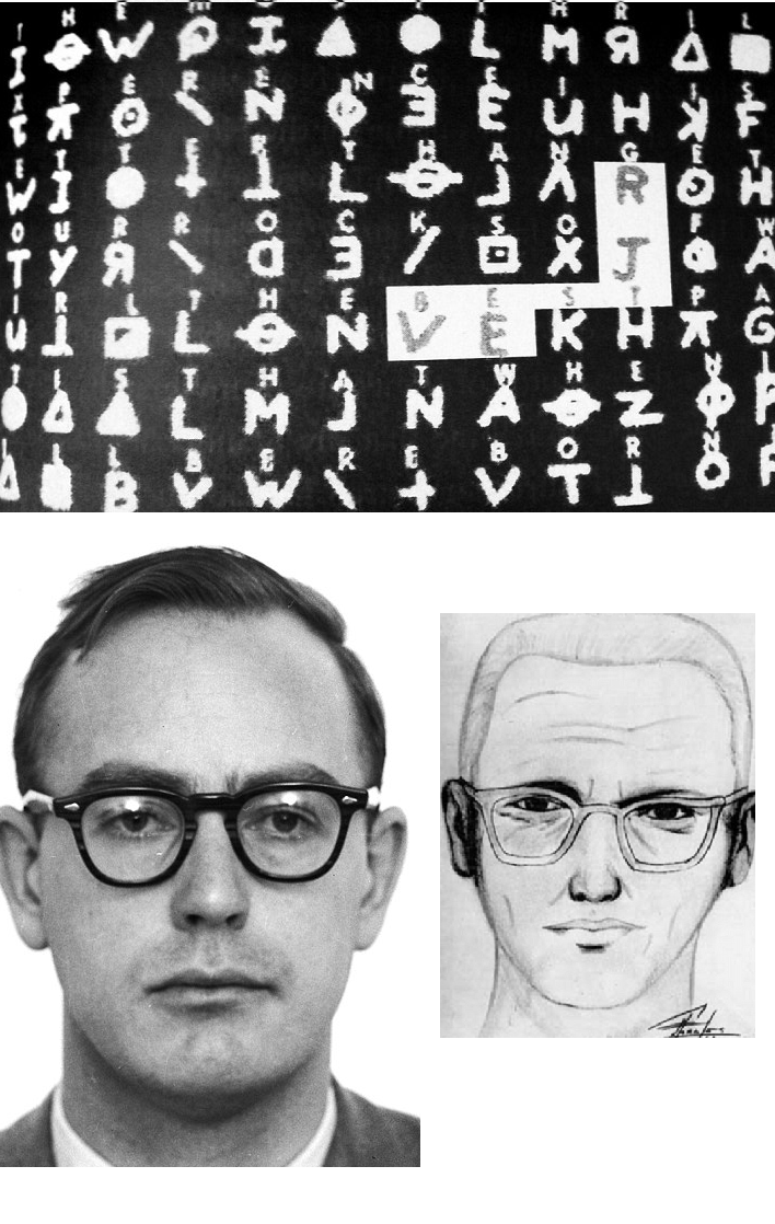 the Zodiac killer.