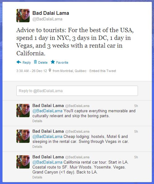 Usa Travel Advice >> The Perpetual Traveler My Usa Travel Advice In 4 Tweets