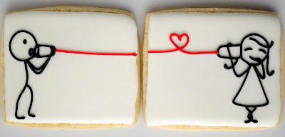 Søde kager, dåsetelefon, hører hun ham gennem hjertet?
