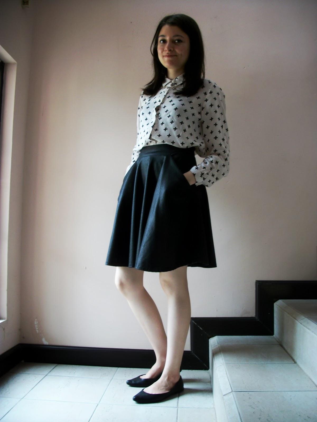 printed cross viscose blouse hm